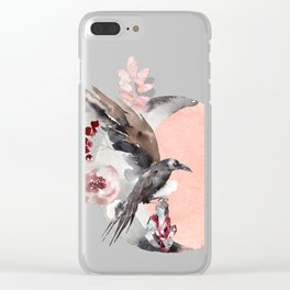 Visions Of Crystal Eyed Ravens Clear iPhone Case