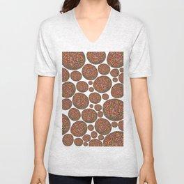 Chocolate Freckle  Unisex V-Neck