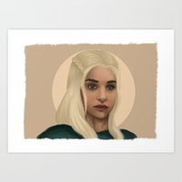 mother of dragons Art Prints featuring Mother of Dragons by Giuseppe