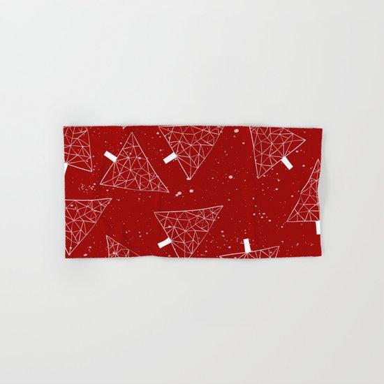 Christmas Trees Red Hand & Bath Towel