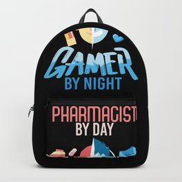 Pharmacist By Day Gamer By Night Backpack