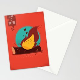 :::Love is on the fire::: Stationery Cards