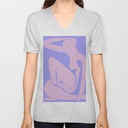 The Blue Nude at Dusk by Henri Matisse Unisex V-Neck