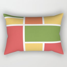 Bauhaus Abstract Pattern 08 Rectangular Pillow