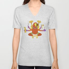 Zen Midnight Parrot Unisex V-Neck