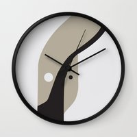 german shepherd Wall Clocks featuring GERMAN SHEPHERD by Ang Gispert