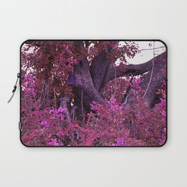 Pink red alien planet tree bright Laptop Sleeve