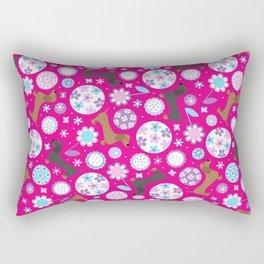Dachshund Garden Party Rectangular Pillow