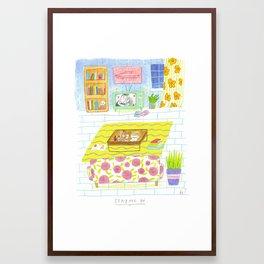 Staying In Framed Art Print