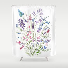 vintage wildflowers arrangement 2020 Shower Curtain