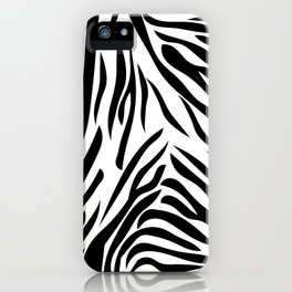 Black and White Zebra Print iPhone Case