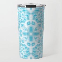 Blue Square Mandala Travel Mug