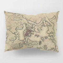 Vintage Boston Revolutionary War Map (1775) Pillow Sham