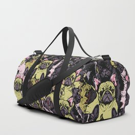 Social French Bulldog Duffle Bag