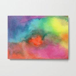 Rainbow Cloud Metal Print