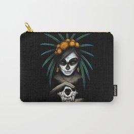 Voodo Dia De Los Muertos Day Of The Dead Sugar Ultra HD Carry-All Pouch