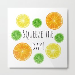Squeeze the day! Citrus fruit oranges, lemons, and limes Metal Print