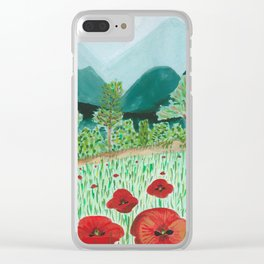 poppy-coquelicot Clear iPhone Case