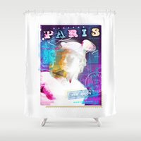 posters Shower Curtains featuring Paris Posters - Hermez by G_Stevenson