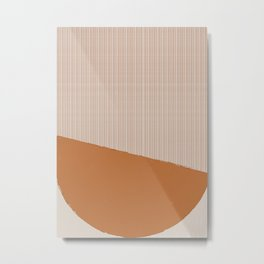 Abstract Pastel Pattern Metal Print