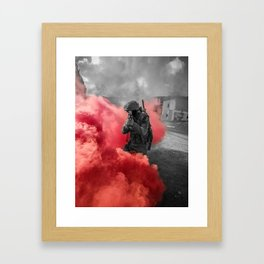 Urban combat Framed Art Print