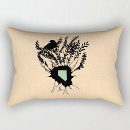 Nevada - State Papercut Print Rectangular Pillow