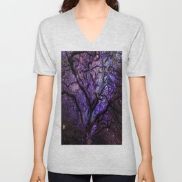 Mystic Tree of Knowledge Purple Unisex V-Neck