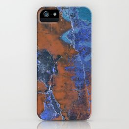 Grunge Colorful Abstract Texture Print iPhone Case