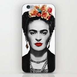 Mexican Beauty Portrait Artwork for Women Men and Kids iPhone Skin