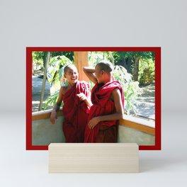 Laughter at th Monastey, Myanmar Mini Art Print