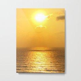 Sunset in Tel Aviv, Israel Metal Print