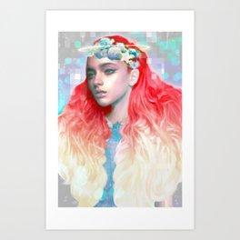 pixel halo Art Print