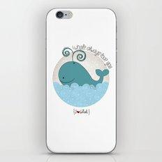 I {❤} Whale iPhone & iPod Skin