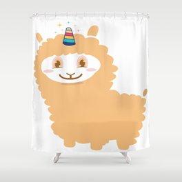 Funny Llama Unicorn Alpaca Animal Pet Lover Gift Shower Curtain