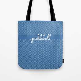 Mini Paddles and Balls on Blue Tote Bag