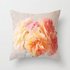 Textured Pastel Rose Throw Pillow
