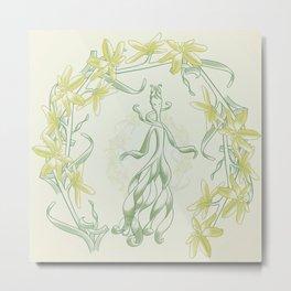 Succulent Sprite - albuca concordiana Metal Print