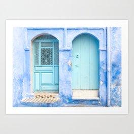 Doors - Chefchaouen VI - The Blue City, Morocco Art Print