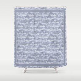 Flower pattern blue . Shower Curtain