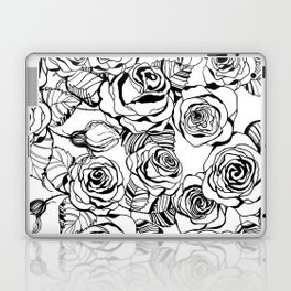 Hand drawn roses pattern Laptop & iPad Skin