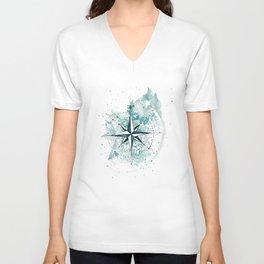 Compass Sketch Unisex V-Neck