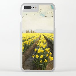 fields of daffodils Clear iPhone Case