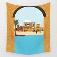 arab Wall Tapestries featuring Arab city by Design4u Studio