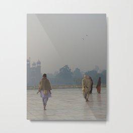 Taj Mahal Pilgrims in Agra, India (2004e) Metal Print