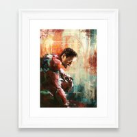 iron man Framed Art Prints featuring The man of Iron by Wisesnail