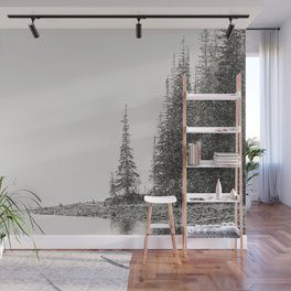 Snow Storm at the Mountain Lake - Moraine Lake Banff National Park Canada  Wall Mural