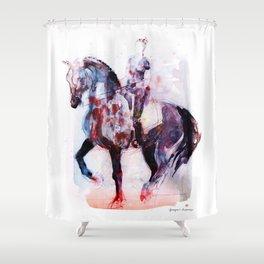 Horse (Dressage rider) Shower Curtain