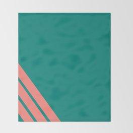 Three stripes coral Throw Blanket