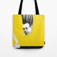 camus Tote Bags featuring Albert Camus by Zmudart