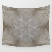snowflake Wall Tapestries featuring Snowflake Fibers by Deborah Janke